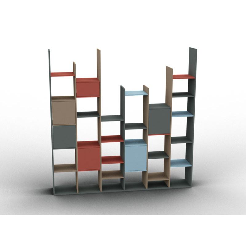 Meuble bibliothèque hauteur variable