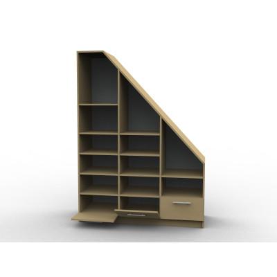 Aménagement d'une bibliothèque en sous pente