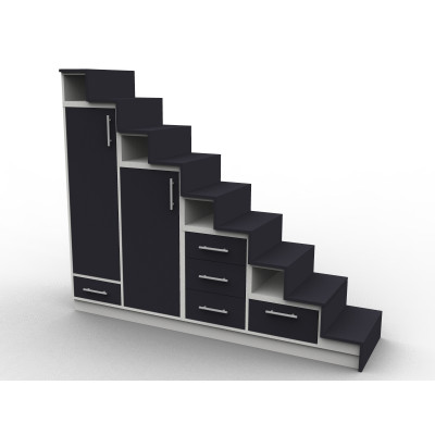 Meuble escalier avec contre-marches