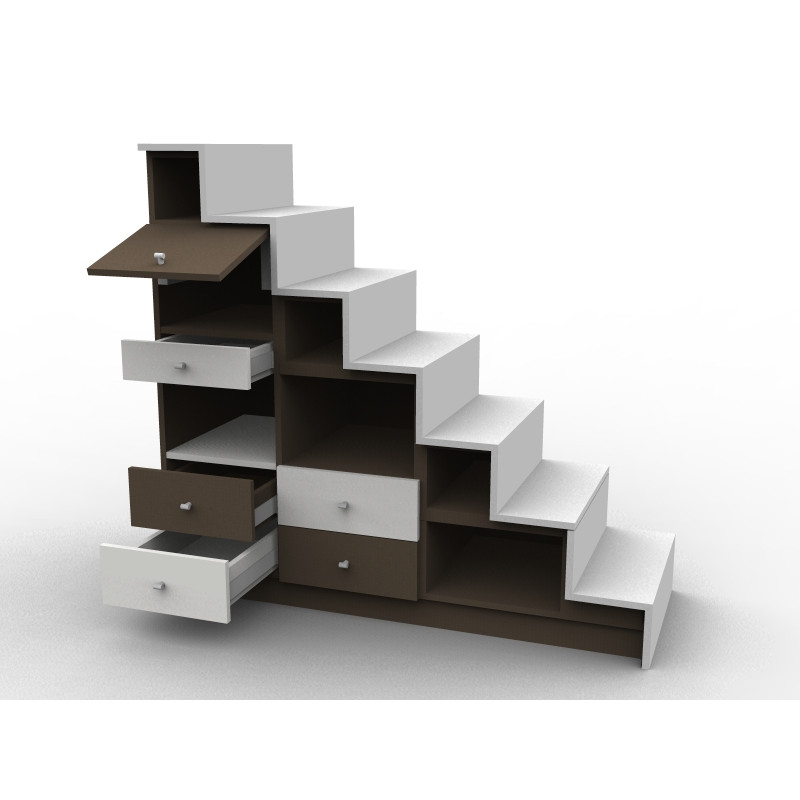 Meuble escalier contre-marches contrastées
