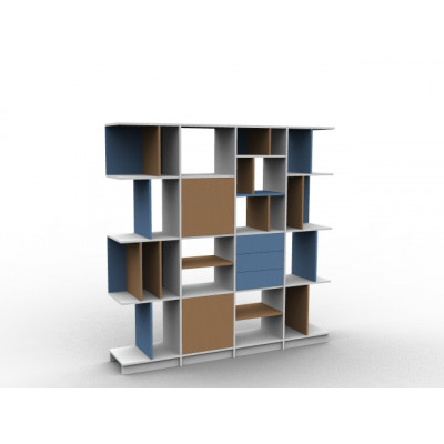 Meuble bibliothèque asymétrique