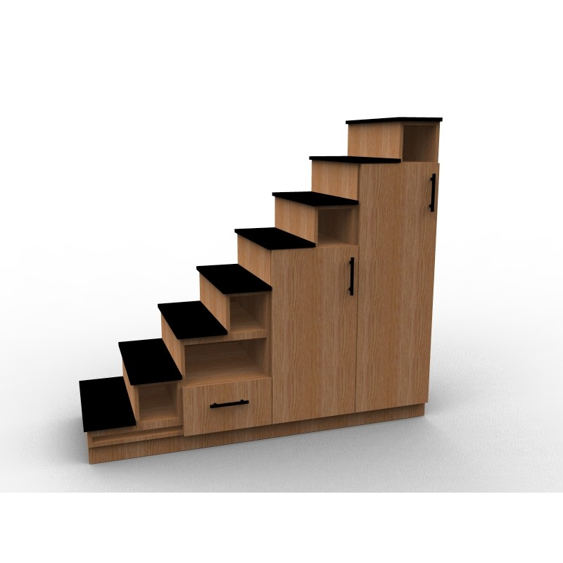meuble escalier sur mesure en bois de chêne