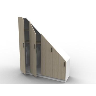 Placard sous escalier sur mesure série Isabelle avec portes