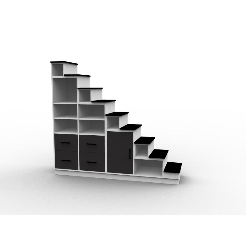 Escalier avec tiroirs sur mesure
