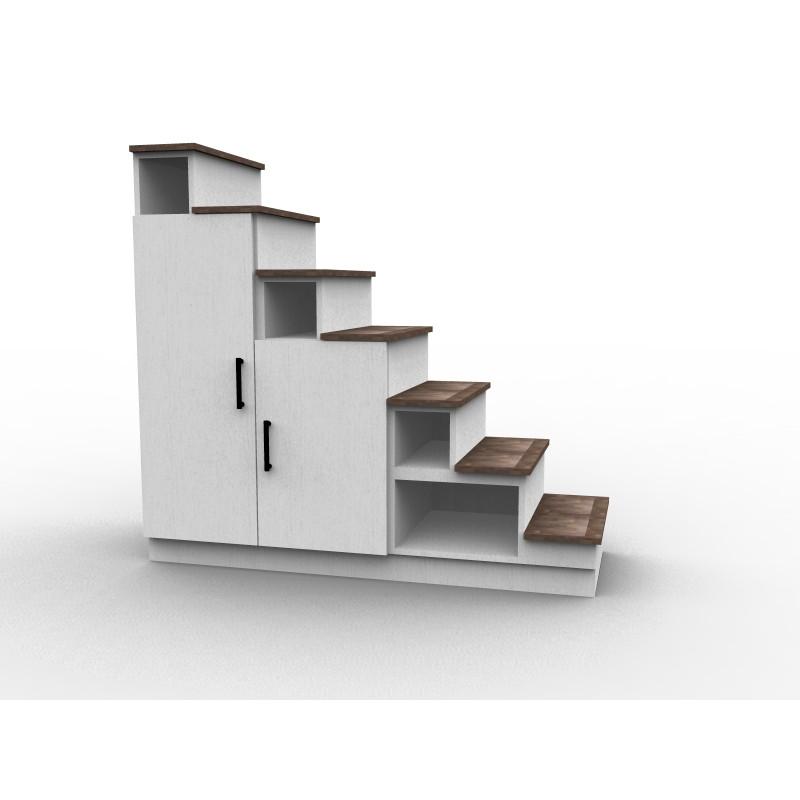 Escalier avec rangement sur mesure