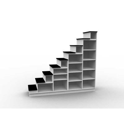 Meuble escalier avec bibliothèque sur mesure